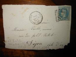 Fragment Enveloppe GC 3031 Provins Seine Et Marne - 1849-1876: Classic Period