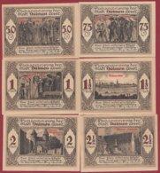 Allemagne 6 Notgeld Stadt Dülmen (RARE SERIE COMPLETE)  Dans L 'état Lot N °30 - [ 3] 1918-1933 : República De Weimar