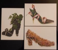 Shoes Creativity Lot De 3 Carte Postale - Pubblicitari