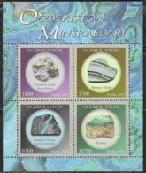UZBEKISTAN, 2019, MNH, MINERALS, SHEETLET - Mineralien