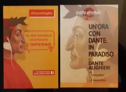 Dante Alighieri Lot De 2 Carte Postale - Pubblicitari