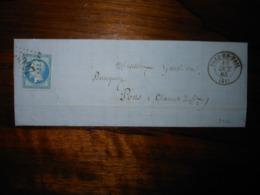 Lettre GC 3027 Prez En Pail Mayenne Avec Correspondance - 1849-1876: Classic Period