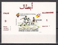 Football / Soccer / Fussball - WM 1982:  Mauretanien  SoBl **, Imperf. - Fußball-Weltmeisterschaft