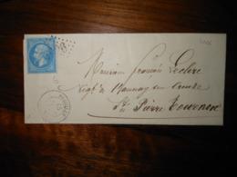 Lettre GC 3026 Preuilly Indre Et Loire Avec Correspondance - 1849-1876: Classic Period