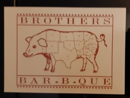 BAR.B.QUE Carte Postale - Pubblicitari