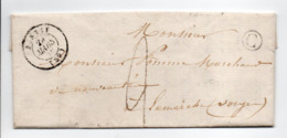 - Boite Rurale BLONDEFONTAINE Via BRUSSEY (Haute-Saône) Pour LAMARCHE (Vosges) 27 MARS 1850 - Taxe Manuscrite 2 Décimes - 1849-1876: Classic Period