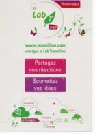 SNCF - LE LAB TRANSILIEN - Publicité