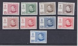 Königin Margrethe II  QUEEN REINE REINA  GREENLAND GRÖNLAND 1973 - 1979 MNH SLANIA MI 84 85 90 91 101 102 112 113 114 - Ongebruikt
