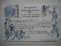 Guerre 14-18 Humour BUREAU DE DESHABILLEMENT Ici On Fait Des Civiles Travail Soigné ! - Guerra 1914-18