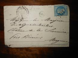 Enveloppe GC 3024 Pressigny Le Grand Indre Et Loire - 1849-1876: Classic Period