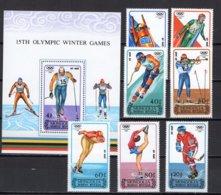 Mongolia 1988 Olympic Games Calgary Set Of 7 + S/s MNH - Winter 1988: Calgary
