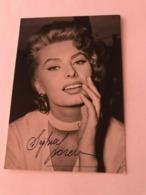 Sophia Loren Actress Photo Autograph Hand Signed 10x15 Cm - Signed Photographs