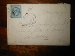 Enveloppe GC 3023 Premery Nievre - 1849-1876: Classic Period