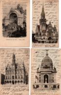 Exposition De 1900 - 4 Cartes : Pavillon USA Belgique Allemagne + Château D'eau - !! Une Carte Coupée - Ausstellungen
