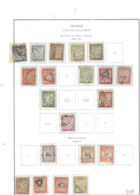 Francia Postage D.1893/41 Numerals    Scott.J 29+30+31+34 See Scan On Album Servizi; - Segnatasse