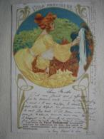 Carte Postale Ancienne Publicité VALS PRECIEUSE Illustration Art Nouveau 1905 - Advertising