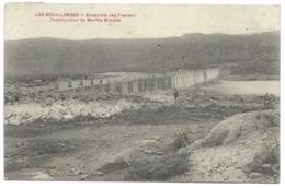 66-LES BOUILLOUSES-Ensemble Des Travaux, Construction Du Mur De Masque...1909  Animé - Autres Communes