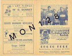 CYCLISME-PRIX DE LA SAINT PIERRE 1949-LE BER ET MARCEL BERNARD-CLUBS DEVILLOIS,DARNETAL,MAROMME,DIEPPE,AUMALE,SOTTEVILLE - Old Paper