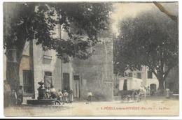 66-PEZILLA-DE-LA-RIVIERE-La Place...  Animé - Autres Communes