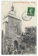 66-PEZILLA-DE-LA-RIVIERE-L'Horloge...  1912  Animé - Autres Communes