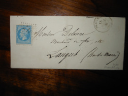 Lettre GC 3017 Prauthoy Haute Marne Avec Correspondance - 1849-1876: Classic Period