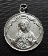 Médaillon: Médaille Religieuse: Christ Et Marie - Religión & Esoterismo