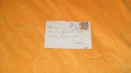 ENVELOPPE ANCIENNE DE 1870.../ CACHET PARIS R. D'ANTIN OBLITERATION ETOILE 8 + TIMBRE - 1849-1876: Periodo Classico
