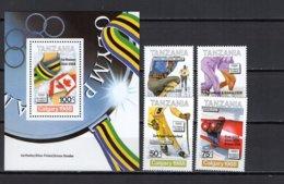 Tanzania 1989 Olympic Games Calgary Set Of 4 + S/s With Winners Overprint MNH - Winter 1988: Calgary