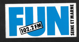Radio Fun Seine & Marne - Sticker Adhésif Autocollant - Autocollants