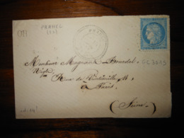 Enveloppe GC 3015 Prahec Deux Sevres - 1849-1876: Période Classique