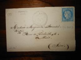 Enveloppe GC 3015 Prahec Deux Sevres - Poststempel (Briefe)
