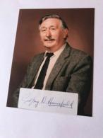 Godfrey Hansfield Nobel Medicine Photo Autograph Hand Signed 10x15 Cm - Dédicacées