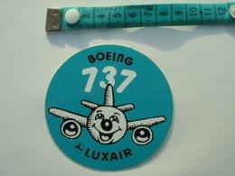AUTOCOLLANT BOEING 737 - LUXAIR - Aufkleber