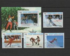 Mauritania 1988 Olympic Games Calgary Set Of 4 + S/s With Winners Overprint MNH - Winter 1988: Calgary