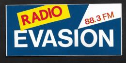 Radio Evasion - Sticker Adhésif Autocollant - Autocollants