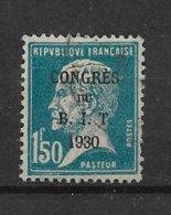 France Timbre  De 1930 Congrés Du BIT N°265  Oblitéré - Frankreich