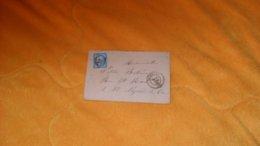 ENVELOPPE ANCIENNE DE 1874.../ LA CIOTAT POUR ST NAZAIRE DU VAR..CACHETS + OBLITERATION GC 1029 ?...+ TIMBRE - 1849-1876: Classic Period