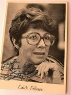 Edith Fellows Actress Photo Autograph Hand Signed 10x15 Cm - Dédicacées