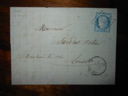 Lettre GC 3011 Le Pouzin Ardeche Avec Correspondance - 1849-1876: Classic Period