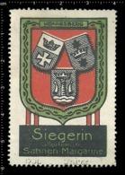 Old German Poster Stamp Cinderella Vignette Erinoffilo Reklamemarke Siegerin Margarine Flag Flagge City Stadt Königsberg - Flaggen