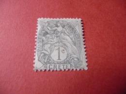 TIMBRE    CRÈTE      N  1      COTE  2,50  EUROS    NEUF  TRACE  CHARNIÈRE - Kreta (1902-1903)