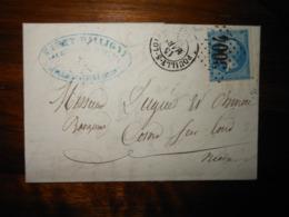 Lettre GC 3004 Pouilly Sur Loire Nievre Avec Correspondance - 1849-1876: Classic Period