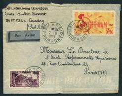 Vietnam Lettre De Cairang 1954 Pour Paris Chim Hong Anh - Vietnam