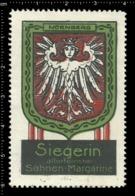 Old German Poster Stamp Cinderella Vignette Erinoffilo Reklamemarke Siegerin Flag Flagge City Stadt Nürnberg Nuremberg. - Flaggen