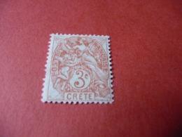 TIMBRE    CRÈTE      N  3      COTE  2,50  EUROS    NEUF  TRACE  CHARNIÈRE - Kreta (1902-1903)