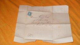 LETTRE ANCIENNE DE 1869../ ABEL PILON LIBRAIRE EDITEUR PARIS..PARIS POUR CORBEIL..CACHETS + OBLIT. ETOILE CHIFFRE ?..+ T - 1849-1876: Classic Period