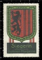 Old German Poster Stamp Cinderella Vignette Erinoffilo Reklamemarke Siegerin Margarine Flag Flagge City Stadt Leipzig. - Flaggen