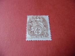 TIMBRE    CRÈTE      N  4     COTE  2,50  EUROS    NEUF  TRACE  CHARNIÈRE - Kreta (1902-1903)