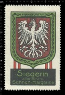 Old German Poster Stamp Cinderella Vignette Erinoffilo Reklamemarke Siegerin Margarine Flag Flagge City Stadt Frankfurt. - Flaggen