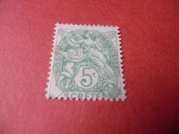 TIMBRE    CRÈTE      N  5     COTE  2,50  EUROS    NEUF  TRACE  CHARNIÈRE - Kreta (1902-1903)